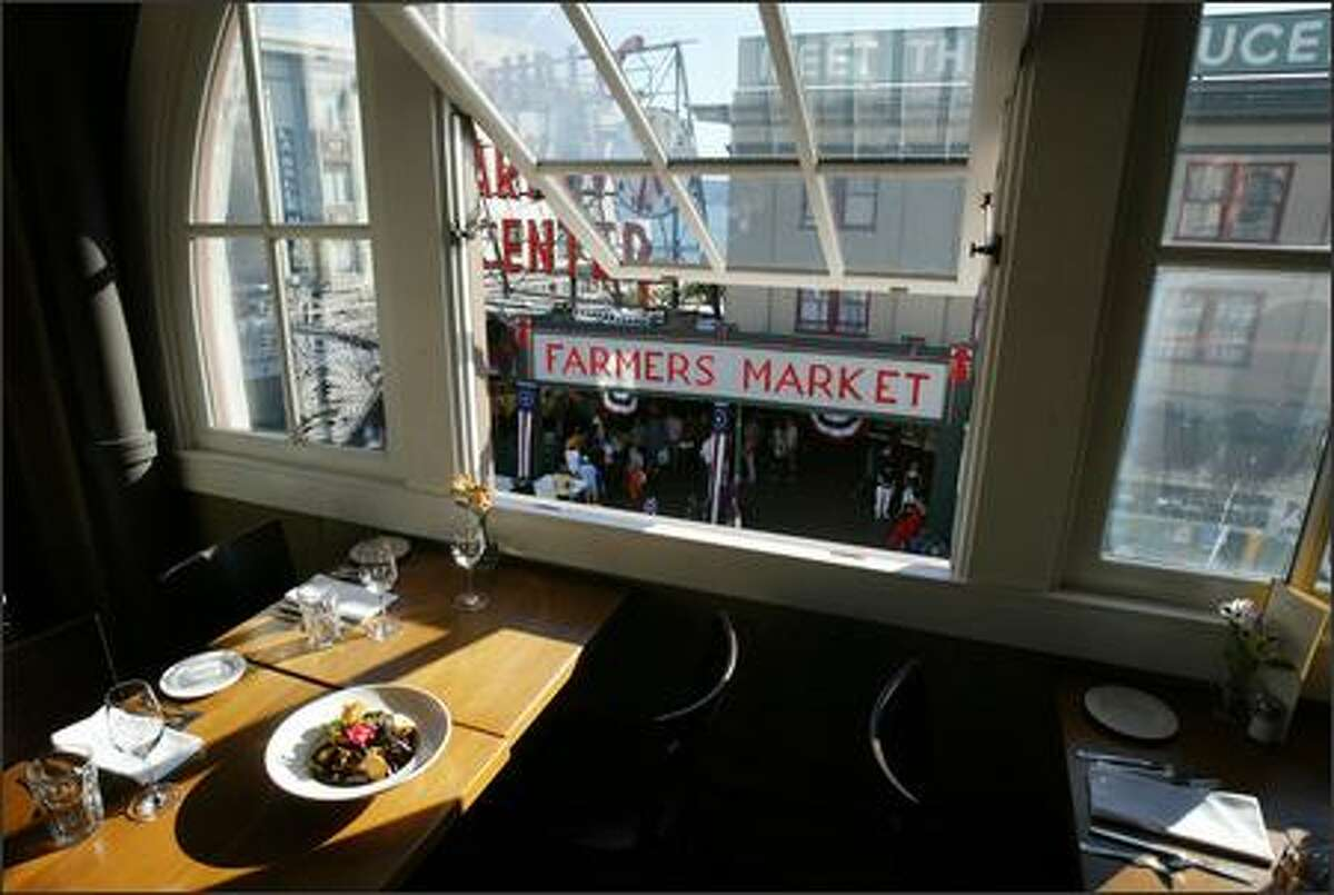 The newly remodeled Matt's in the Market now has a lofty room with vintage arched windows overlooking the action below at Pike Place Market. A fresh breeze and a savory dish of Penn Cove mussels scent the air.