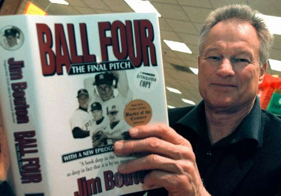 "Former Seattle Pilots pitcher Jim Bouton signs copies of his book ""Ball Four: The Final Pitch"" in this November 2000 file photo. (Photo by Tim Boyle/Newsmakers) Photo: Getty Images / Getty Images"