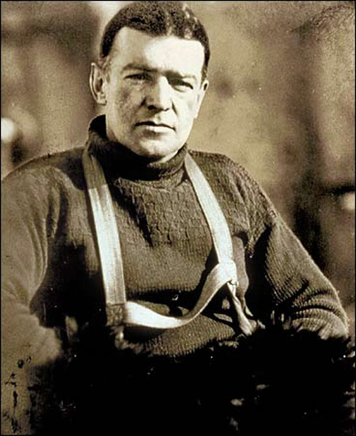 Ernest Shackleton.