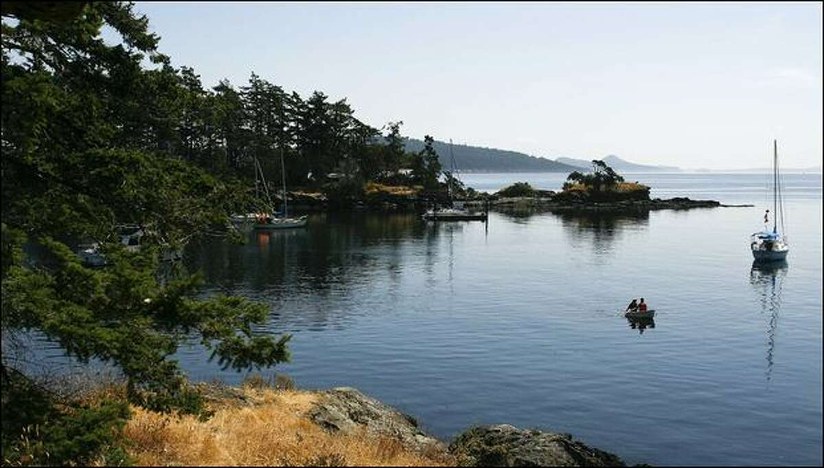 Princess Bay on Portland Island, part of the Gulf Islands National Park Reserve, a five-year-old park encompassing 13.5 square miles of land and tidelands on 15 islands.