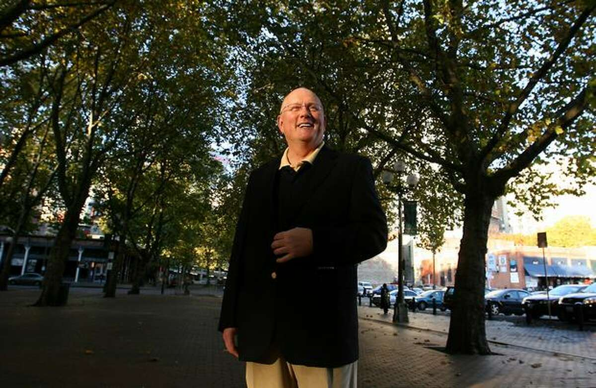 Seattle Police Department Capt. Neil Low, who just published a new book, led a ghost tour last in Pioneer Square to spots where corrupt cops and thieves were killed back in Seattle's early days.