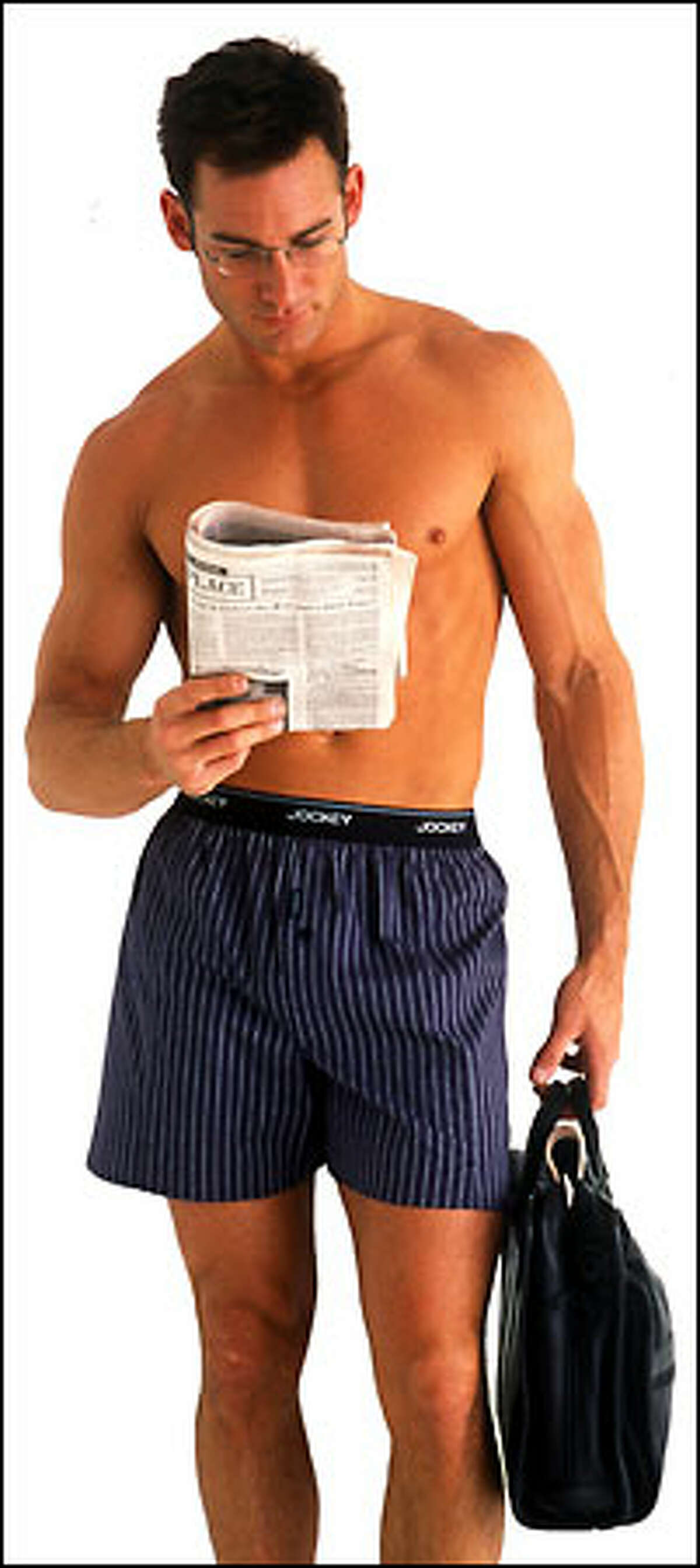 Casual Friday? Not quite, but more men are wearing boxers for comfort and fashion. Shown here is Jockey's stretch-woven boxer.