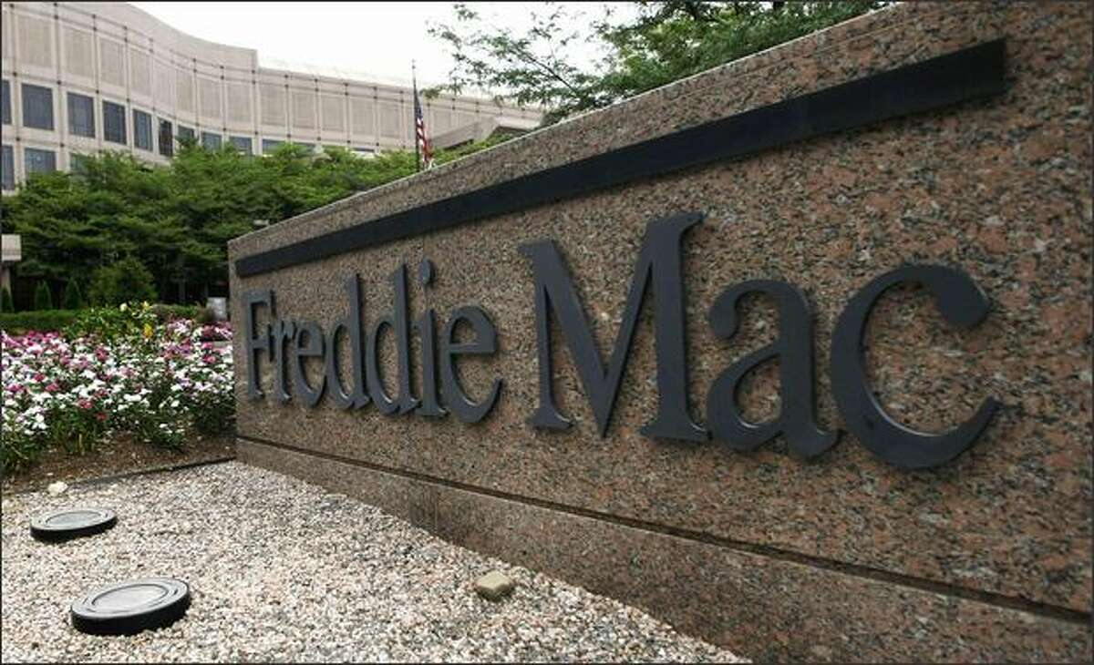 In this July 13, 2008 file photo, the Freddie Mac's corporate offices are seen in McLean, Va. The Bush administration, acting to avert the potential for major financial turmoil, on Sunday announced that the federal government was taking control of mortgage giants Fannie Mae and Freddie Mac.