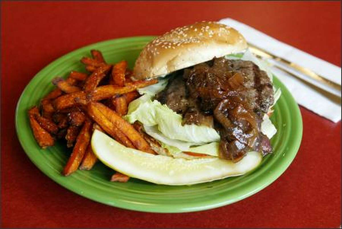 Dishes are often what you'd expect to see on a diner menu, but are tweaked in an inspired way. The burger, made of high-quality beef, gets a balsamic-onion relish topping and is served with ultra-fresh fries. For 50 cents more, substitute the even better sweet potato fries.
