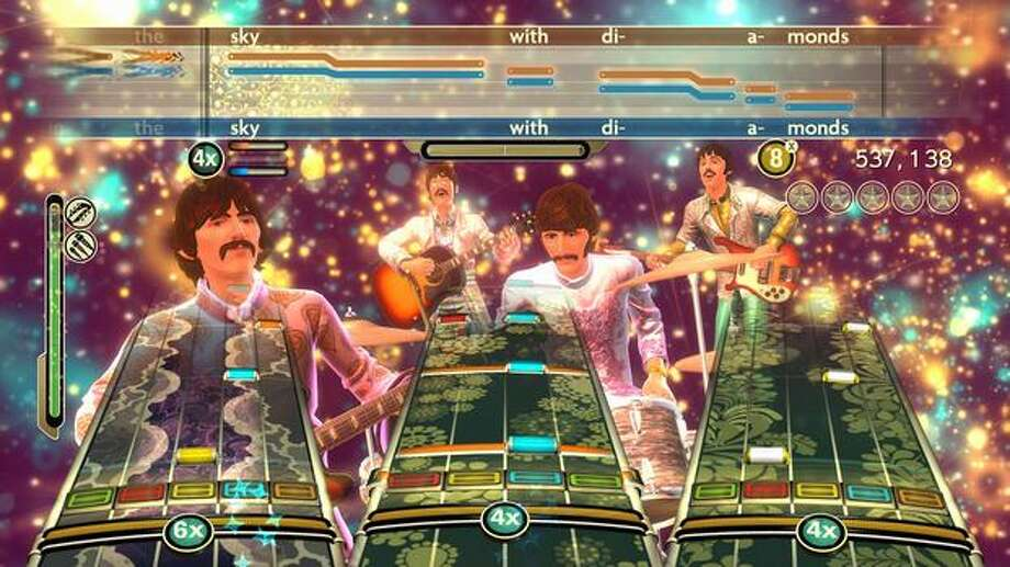 "In this video game image released by MTV Games, a scene is shown from ""The Beatles: Rock Band."" Photo: Associated Press / Associated Press"