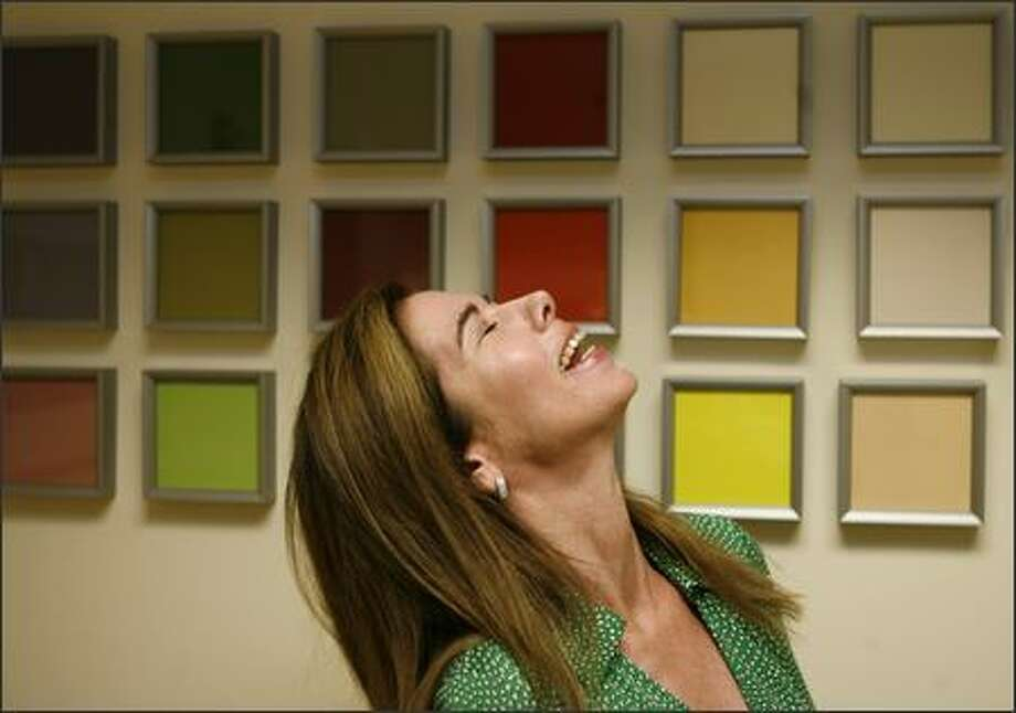 Walls display color samples in the office of Jaime Stephens, executive director of the Color Marketing Group in Alexandria, Va. Photo: Associated Press / Associated Press