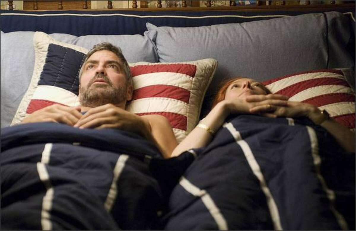 George Clooney and Tilda Swinton in the dark spy-comedy