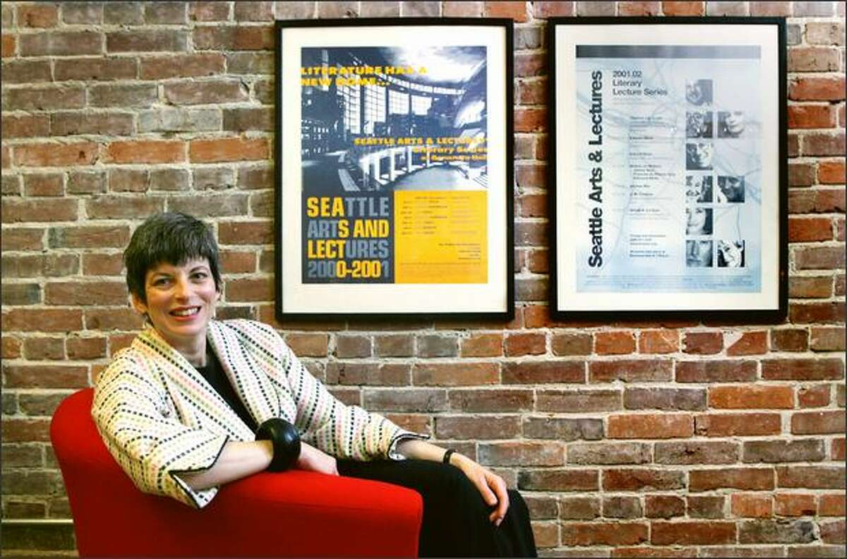 Felicia Gonzalez, development director for Seattle Arts and Lectures, in the organization's Pioneer Square offices in Seattle.