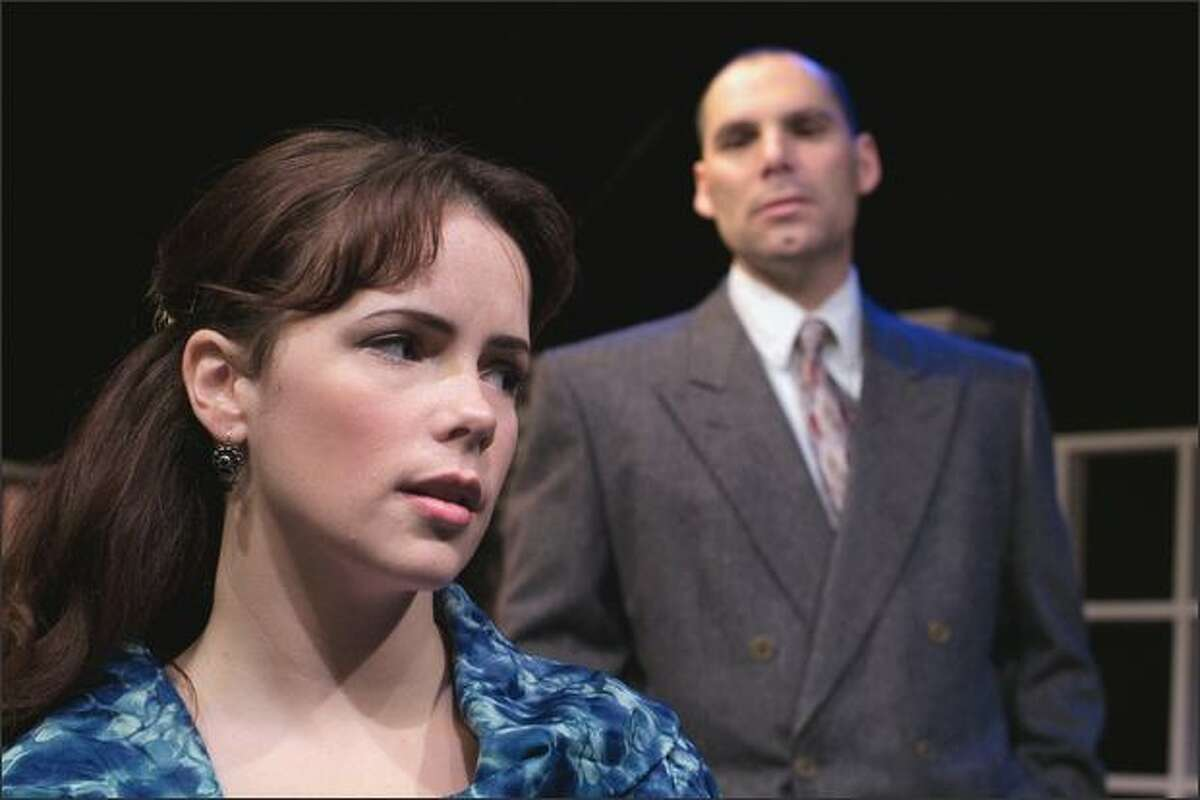 Vittoria (Annie Jantzer) and Bracciano (Chris Macdonald) ponder love and fate in John Webster's