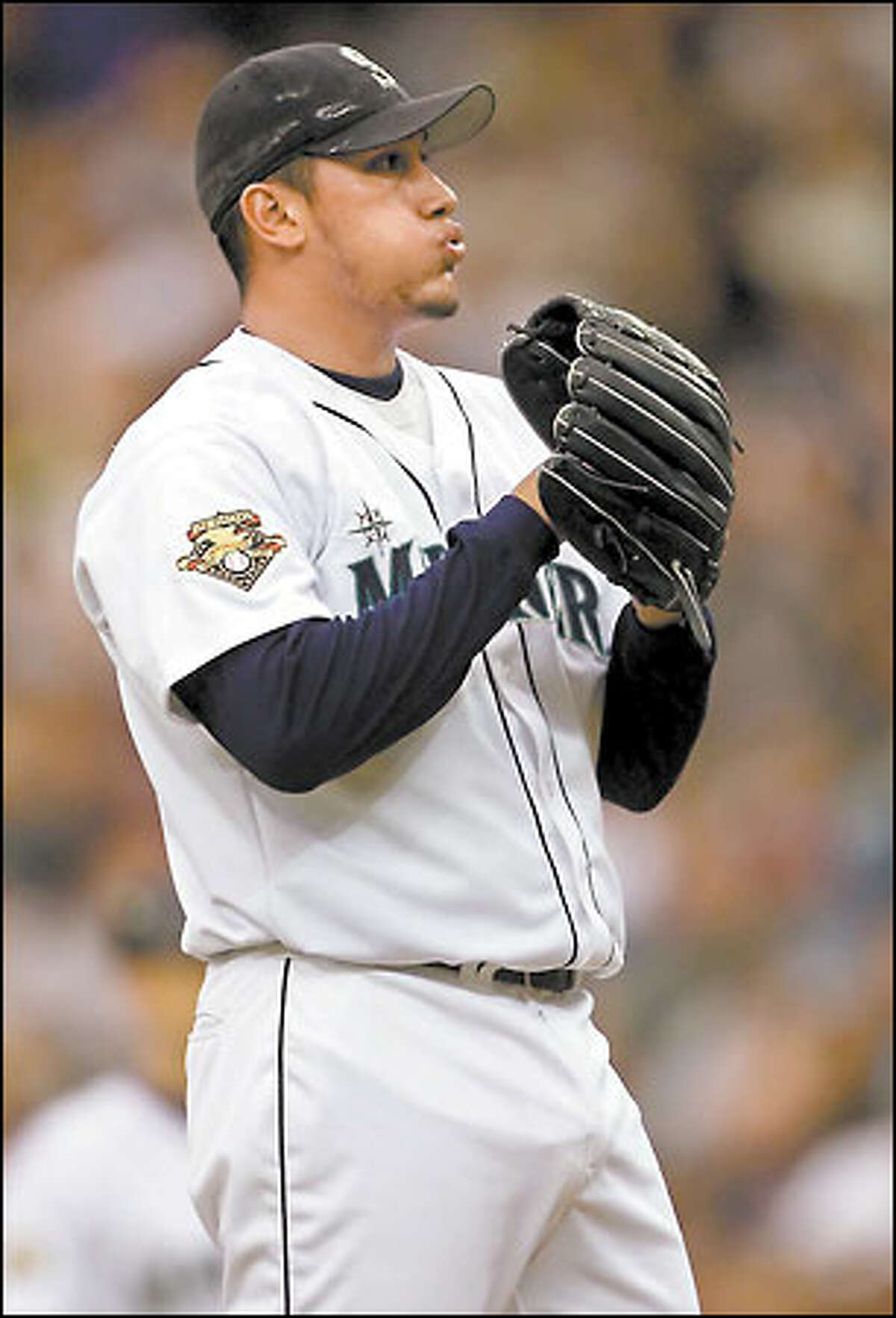Freddy Garcia will get the first start since play was suspended Tuesday. It will be the only time a Mariners pitcher has started back-to-back games.
