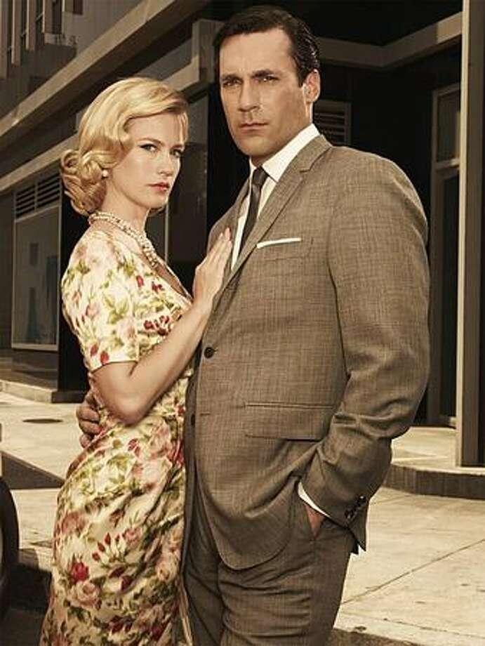 "Jon Hamm, right, deserves an Emmy for a stellar season of ""Mad Men."" Photo: AMC / AMC"
