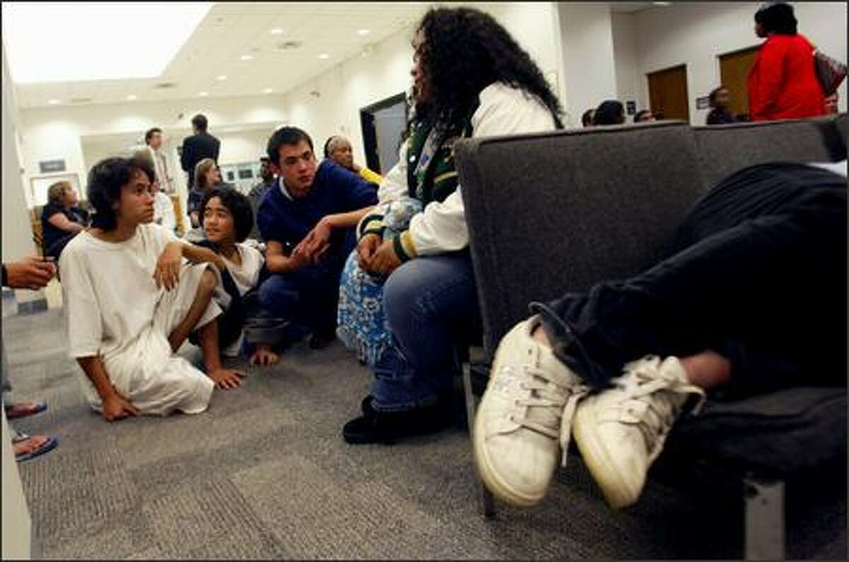 Children and families pictured inside the King County Youth Services Center, pictured in a Seattle Post-Intelligencer file photo.