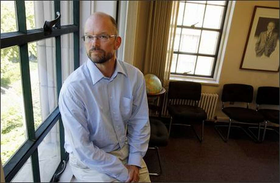 James Wellman, 49, is an assistant professor  of comparative religion at the University of Washington's Jackson School of International Studies. Photo: Gilbert W. Arias, Seattle Post-Intelligencer / Seattle Post-Intelligencer