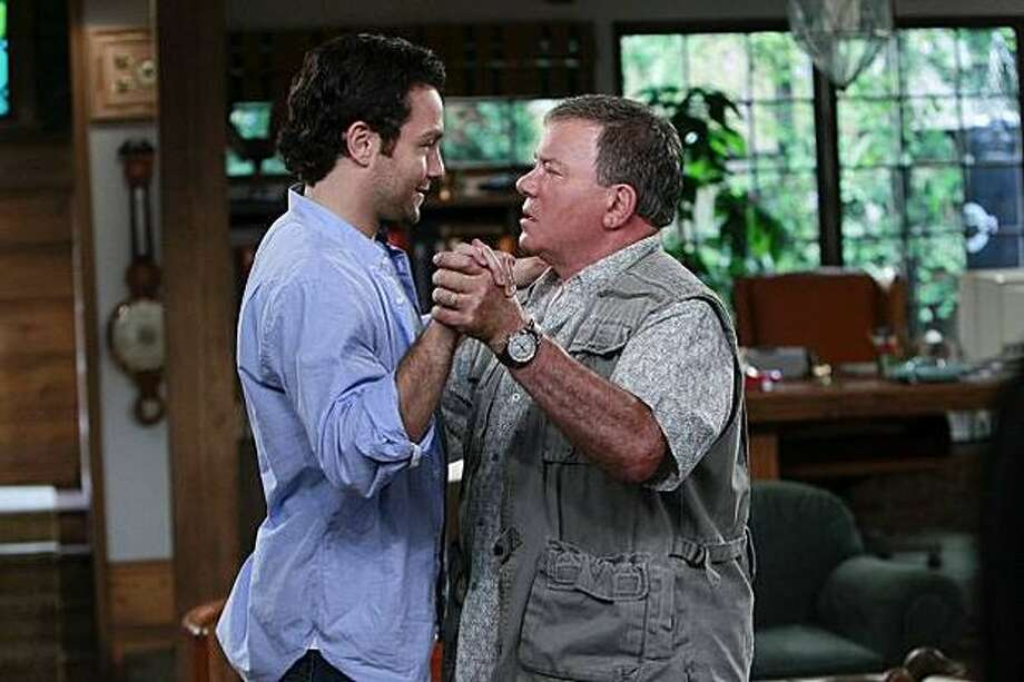 "Jonathan Sadowski (left) is Henry, who is laid off and moves in with his cranky father, Ed, played by William Shatner, in CBS's ""$#*! My Dad Says."" Photo: CBS / CBS"