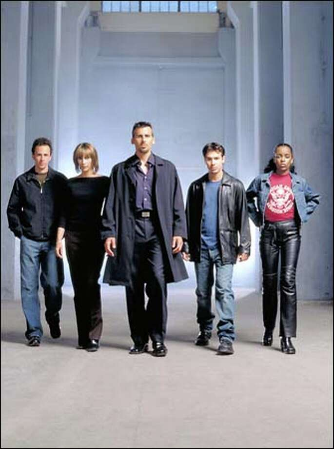 "The special agents of ""UC: Undercover: are, from left, Jarrad Paul as Cody, Vera Farmiga as Alex Cross, Oded Fehr as Frank Donovan, Jon Seda as Jake Shaw, Bruklin Harris as Monica. Photo: Museum Of History And Industry / Museum of History and Industry"