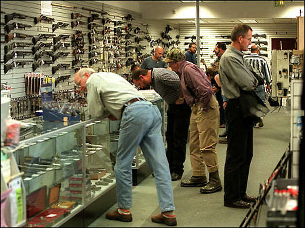 Wade's Eastside Gun Shop in Bellevue, pictured in a seattlepi.com file photo. Photo: Grant M. Haller, Seattle Post-Intelligencer / Seattle Post-Intelligencer