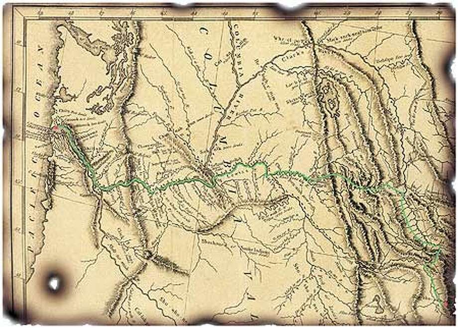The Northwest was largely uncharted territory until William Clark produced this map of the region. The green line indicates the route Lewis and Clark's Corps of Discovery followed from Aug. 12 to Nov. 16, 1805, as they explored the Northwest from Lemhi Pass to the mouth of the Columbia.