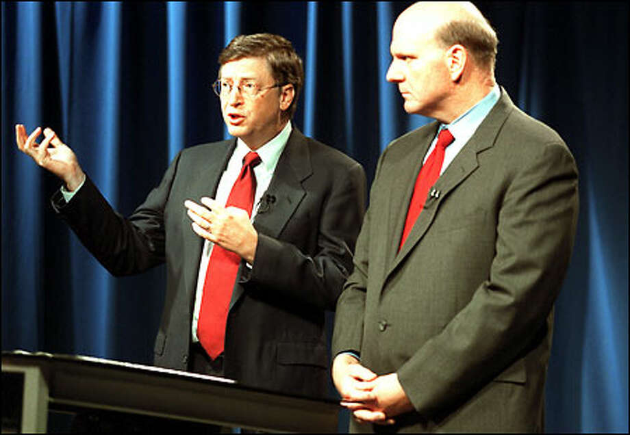 Microsoft Chairman Bill Gates and Chief Executive Steve Ballmer say that the settlement is fair, reasonable and good for consumers. Photo: Gilbert W. Arias, Seattle Post-Intelligencer / Seattle Post-Intelligencer