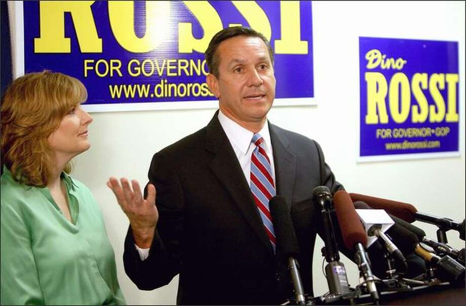 State Sen. Dino Rossi, a two-time Republican gubernatorial candidate, was appointed to the State Senate after the death of GOP Sen. Andy Hill.  Rossi has said he is not interested in running in the 45th District election to fill out Hill's term. The Republicans have, however, yet to field a front-rank candidate in the Eastside district.  The election this November will determine control of the Senate, and of the Washington Legislature. It is drawing national attention. . Photo: Scott Eklund, Seattle Post-Intelligencer / Seattle Post-Intelligencer