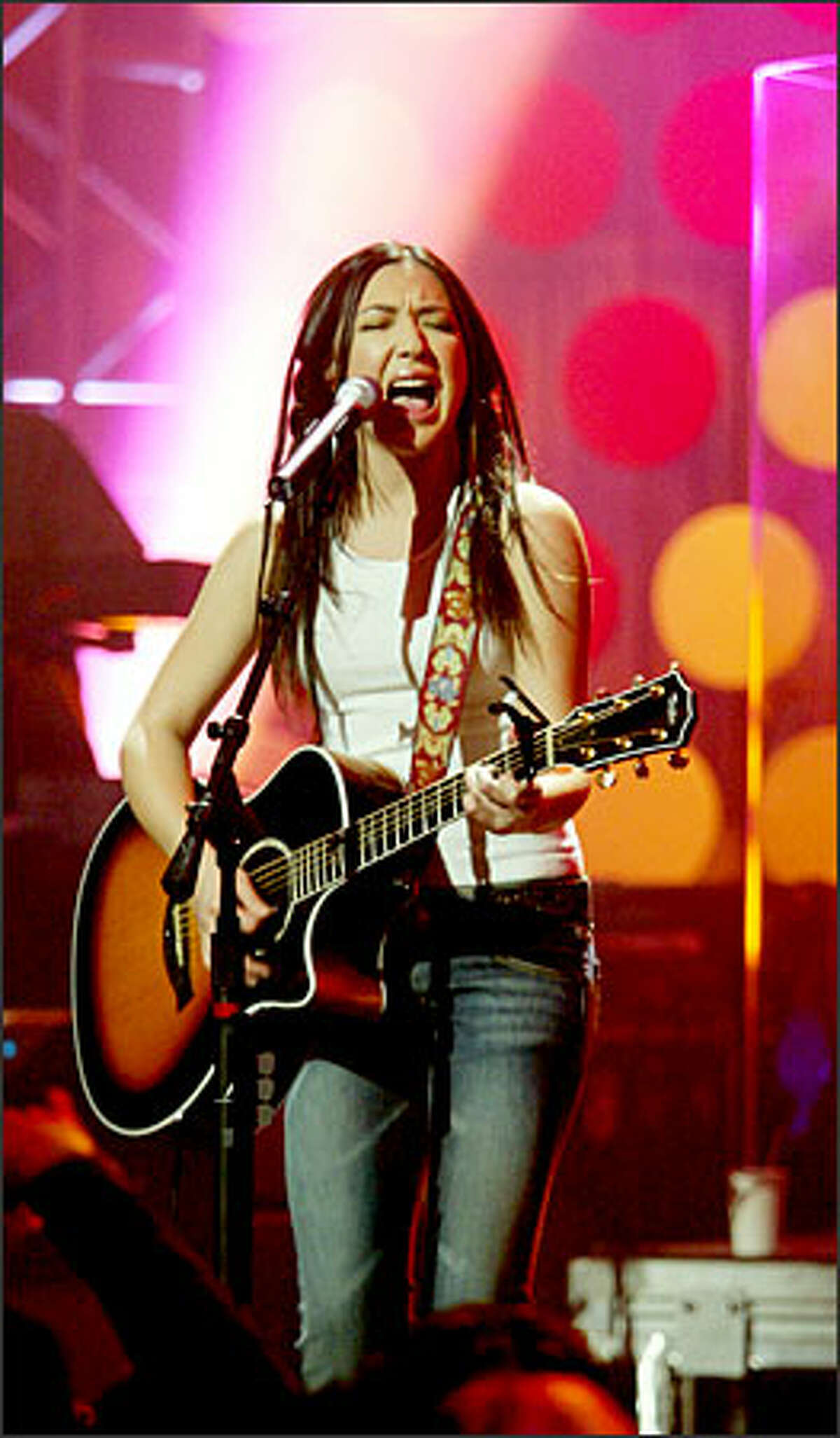 """""""I've never played a show with a condom in the audience,"""" said Michelle Branch of a 6-foot-tall mascot that looked like a condom."""