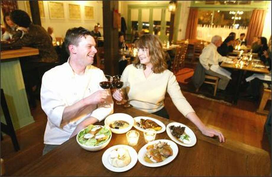 "Felix and Sarah Penn have created a welcome addition to their Ravenna neighborhood with their ""small plates"" restaurant. Three plates per person is recommended for a meal. Photo: Scott Eklund, Seattle Post-Intelligencer / Seattle Post-Intelligencer"