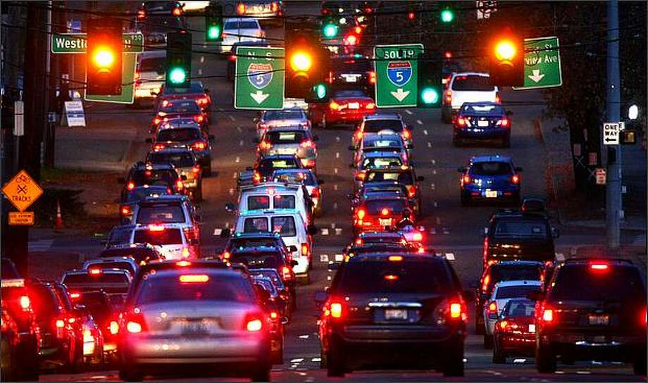 The Mercer Street on/off ramps from Interstate 5 will be closed this weekend. Photo: Joshua Trujillo, Seattlepi.com / seattlepi.com