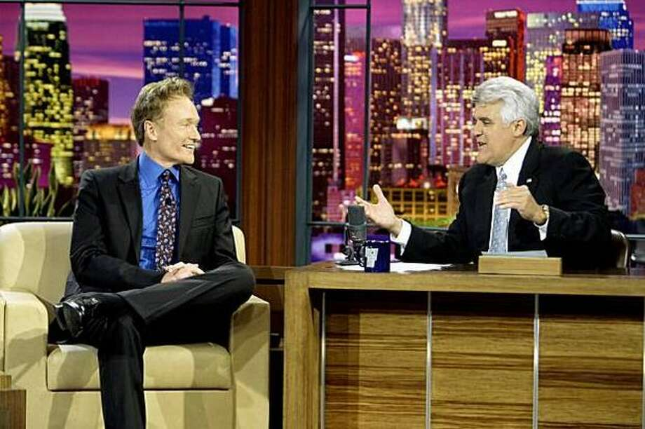 "Jay Leno has said he wouldn't mind returning to the 11:30 p.m. slot if NBC decides it wants him there rather than Conan O'Brien, the new host of ""The Tonight Show."" Photo: NBC / NBC"
