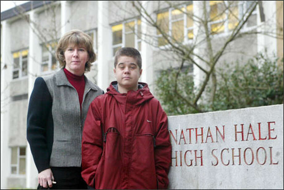 Jennifer Aspelund took her son North Aspelund Jr., 16, out of North Seattle's Nathan Hale High School because she feared that his compromised immune system could be put at risk by mold at the school. North has battled leukemia since age 4. Photo: Karen Ducey, Seattle Post-Intelligencer / Seattle Post-Intelligencer