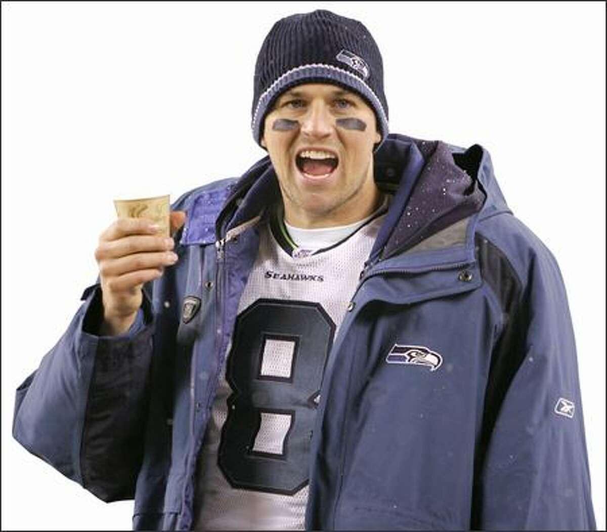 Seahawks quarterback Matt Hasselbeck.
