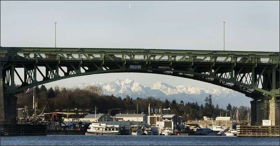 The Ballard Bridge, pictured in a file photo. Photo: Stephen Brashear, Special To Seattlepi.com / Special to seattlepi.com