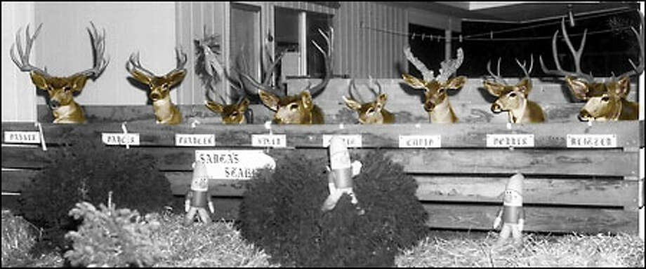 Which reindeer was your favorite? Dasher? Dancer? Blitzen? Photo: Seattle Post-Intelligencer / Seattle Post-Intelligencer