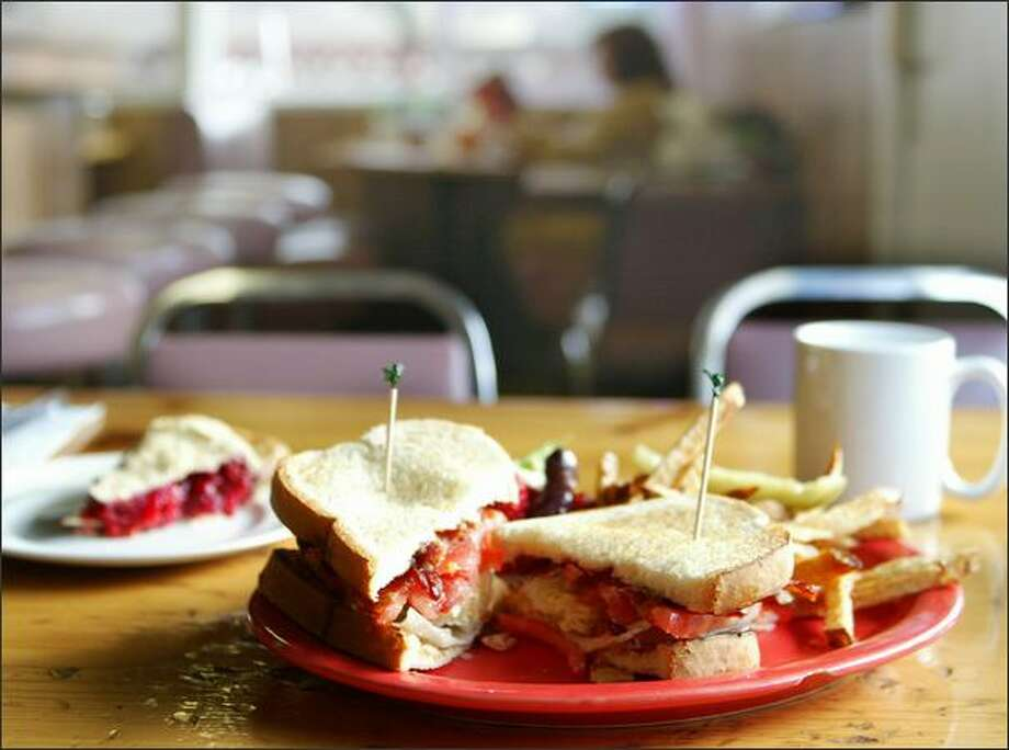 "Nothing spells ""diner"" like a BLT and a slice of homemade cherry pie, at the Shanty Cafe. Photo: Paul Joseph Brown, Seattle Post-Intelligencer / Seattle Post-Intelligencer"