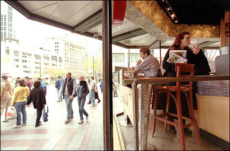 The downtown Briazz at Fourth and Pine is shown here during lunch hour Thursday. Briazz raised $16 million in its IPO on May 1; at the market's close Friday its capitalization was $5 million. Photo: Phil H. Webber, Seattle Post-Intelligencer / Seattle Post-Intelligencer