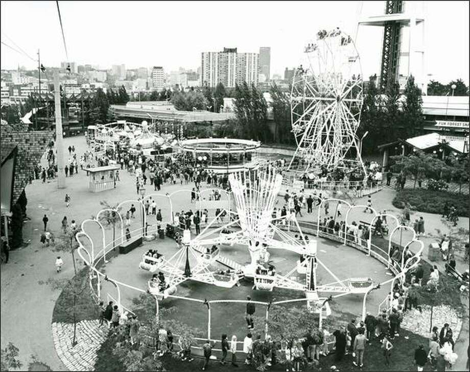 The Fun Forest, which opened with the World's Fair in 1962 was originally called the Gayway and eventually included a roller coaster, games and more. It had its ups and downs and eventually turned out to be not fun enough. It was closed down in 2011. Photo: Seattle Post-Intelligencer / Seattle Post-Intelligencer