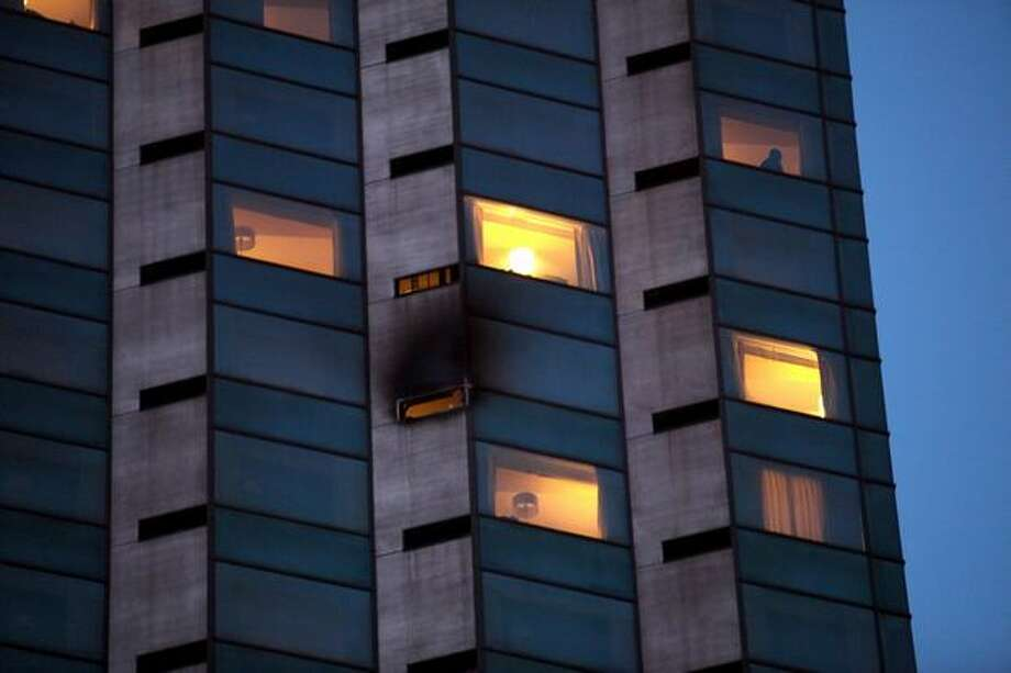A view of the Holiday Inn Crowne Plaza in downtown Seattle, where a fire broke out on Friday afternoon, Dec. 31, 2010. There were no reports of injuries. Photo: Cliff DesPeaux, Special To Seattlepi.com / special to seattlepi.com