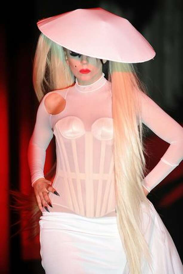 Lady Gaga walks the runway during the Thierry Mugler ready to wear autumn/winter 2011/2012 show during Paris Fashion Week at Gymnase Japy in Paris on Wednesday, March 2, 2011. Photo: Getty Images / Getty Images
