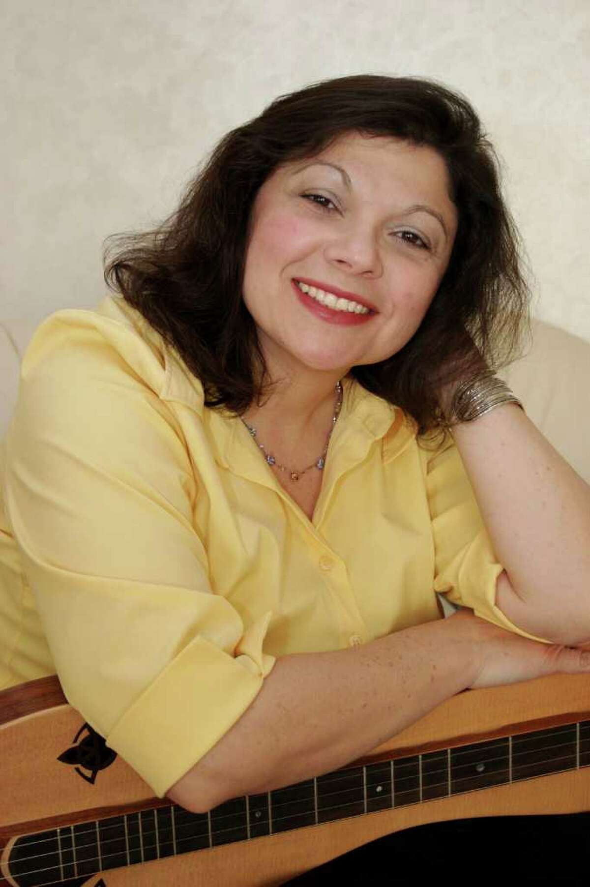 Thomasina Levy, shown here, will perform with Robert Brereton on Saturday, April 9, at Family Music Night in Sherman.