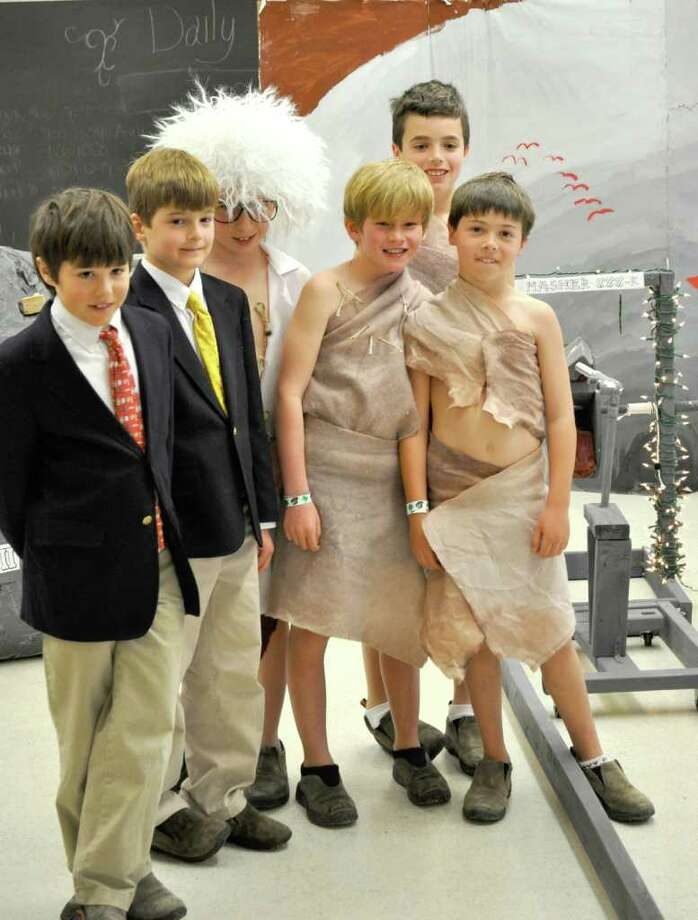 "Brunswick School 4th and 5th grader ""Odyssey of the Mind"" teams will represent the State of Connecticut and their school at the upcoming international championship at the end of May. Pictured here, from left, are Brunswick 4th graders Andrew Grossman, Connor Belcastro, Will Jones, Tom Richter, George Coyle and Theo Coupe. Photo: Contributed Photo / Greenwich Citizen"