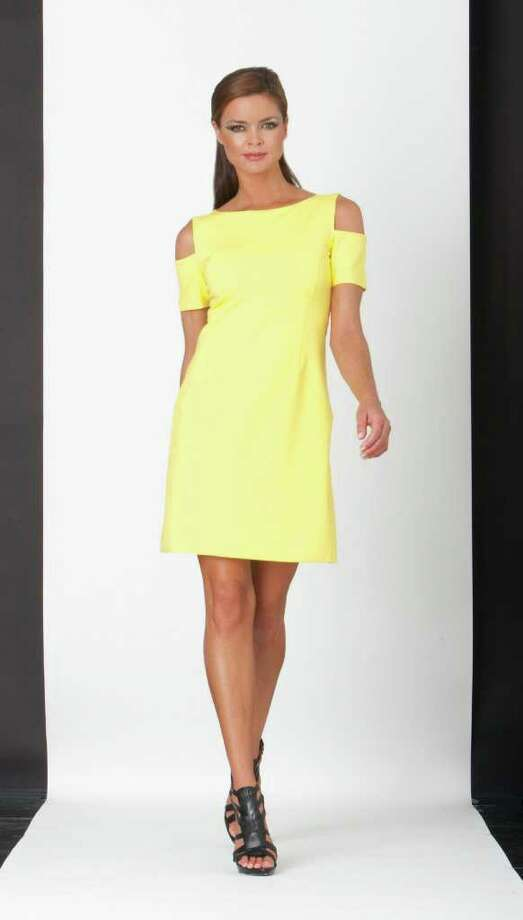 A cut-shoulder style from Nue by Shani is $200 at Dillard's. / DirectToArchive