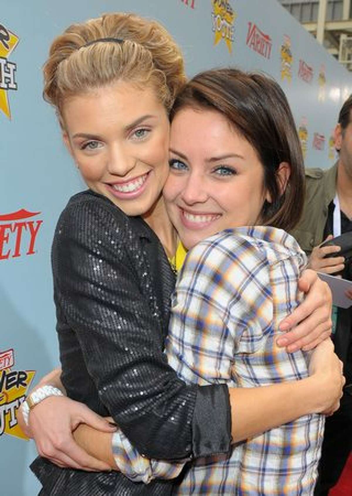 Actresses AnnaLynne McCord and Jessica Stroup arrive at Variety's 3rd annual