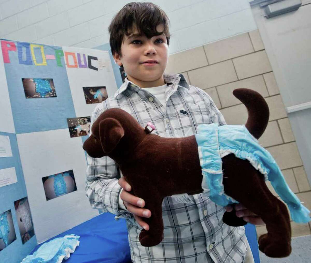 Shelter Rock School fifth-grader Bryan Lima came up with a