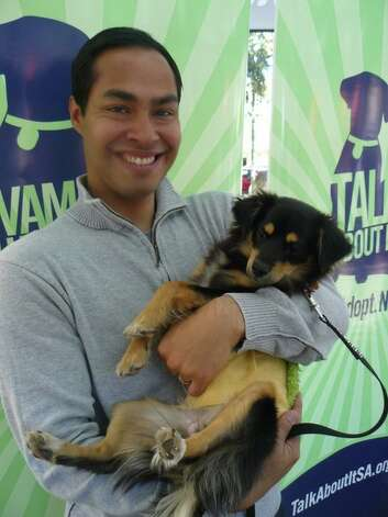 "Mayor Julian Castro is committed to helping San Antonio with its pet overpopulation problem and aiming for a ""no kill""goal at the city's animal shelter. Photo: Courtesy Photo"