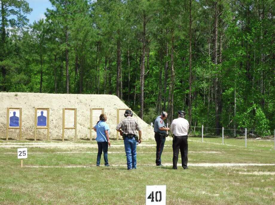 JCSO enjoying the sunny day at the newly built firing range. Photo: Jodie Warner