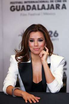 Eva Longoria attends a news conference at the Guadalajara International Film festival in Guadalajara, Mexico, Saturday March 26, 2011. Photo: AP