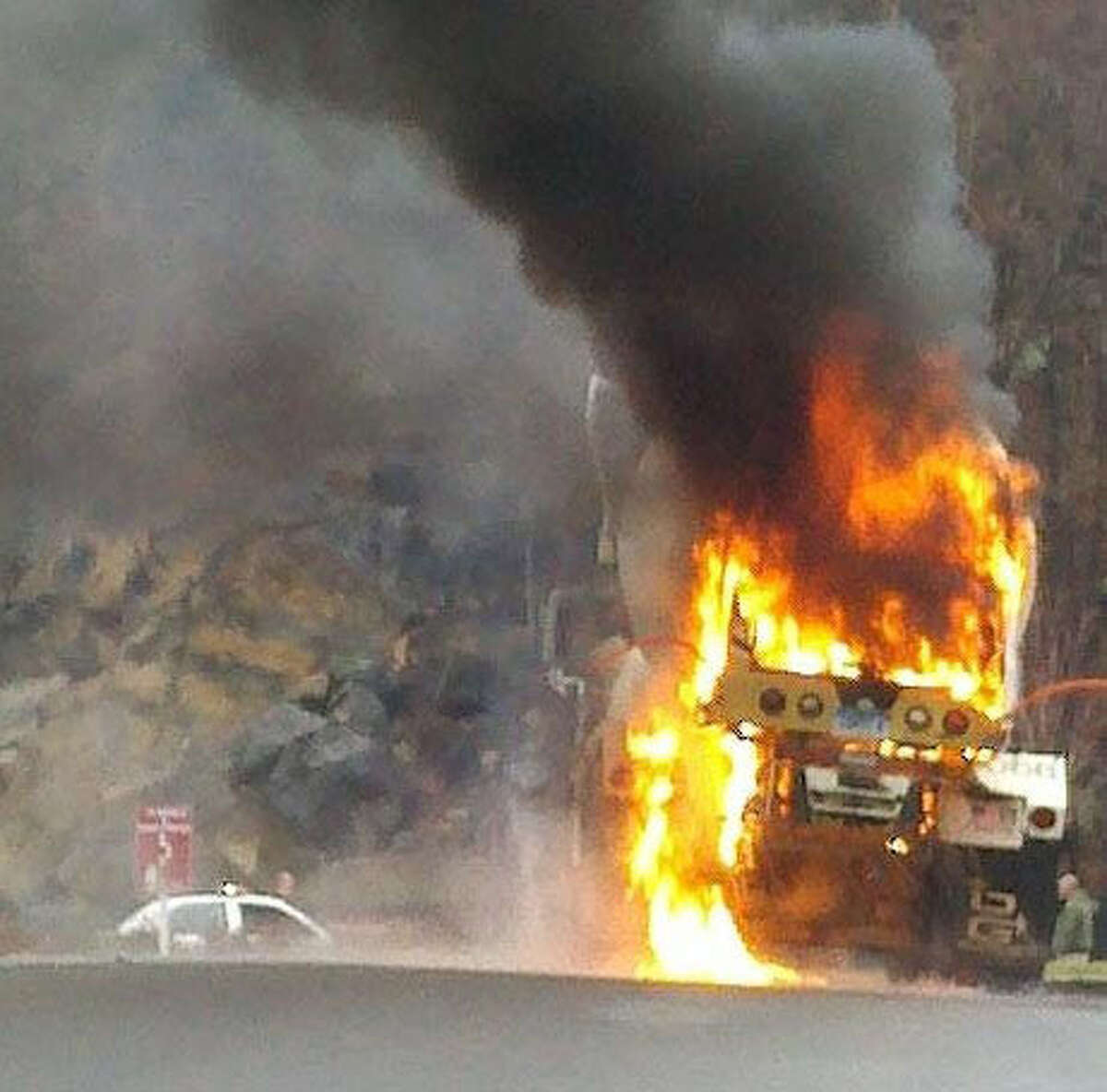 Bethel firefighters responded to a cement truck fire on Thursday, April 7, 2011. (Photo: Bethel Fire Department)
