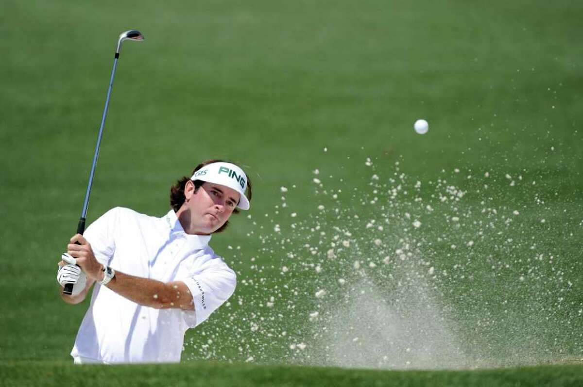 AUGUSTA, GA - APRIL 07: Bubba Watson hits out of the bunker on the second hole during the first round of the 2011 Masters Tournament at Augusta National Golf Club on April 7, 2011 in Augusta, Georgia. (Photo by Harry How/Getty Images) *** Local Caption *** Bubba Watson