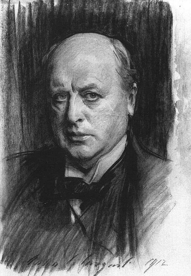 John Singer Sargent charcoal portrait of Henry James. (Public domain)