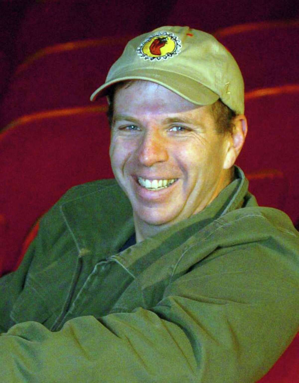 Tom Carruthers, of the Connecticut Film Festival, at The Palace Theater in Danbury.