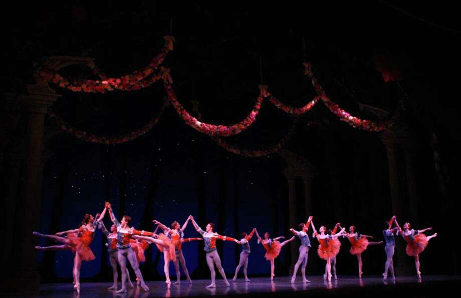 """Pacific Northwest Ballet company dancers and PNB School students perform during a dress rehearsal for George Balanchine's """"A Midsummer Night's Dream."""" Photo: Joshua Trujillo / Seattlepi.com"""