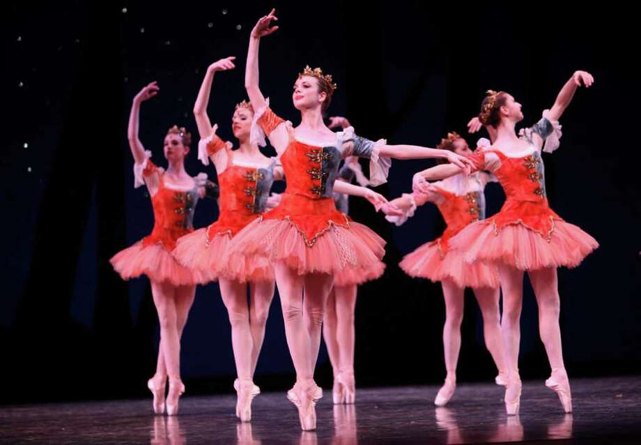"Pacific Northwest Ballet company dancers and PNB School students perform during a dress rehearsal for George Balanchine's ""A Midsummer Night's Dream."" Photo: Joshua Trujillo / Seattlepi.com"